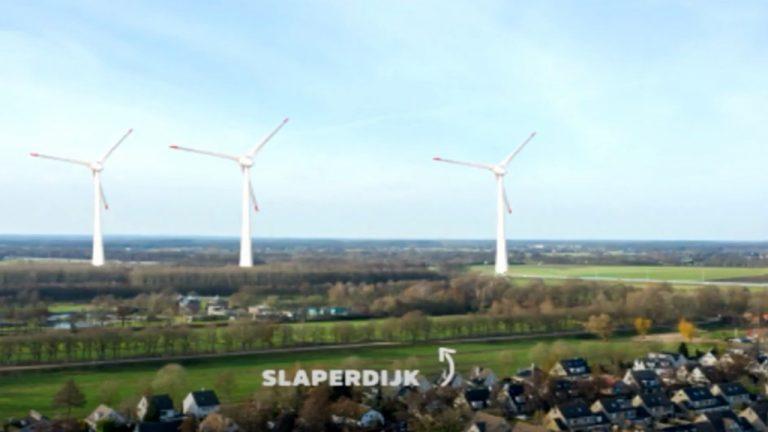 Montagefoto met de te bouwen windmolens in Renswoude - XON